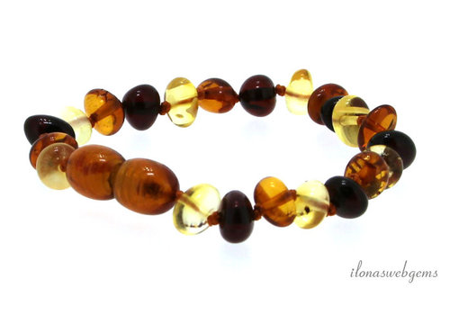 Amber / Amber bracelet around 6x3mm