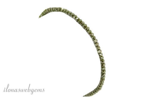 Armbandje kristal Swarovski style ca. 2x3 mm