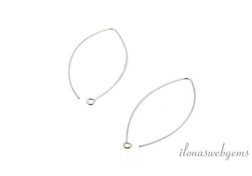 1 Paar Sterling Silber Ohrhaken (groß)