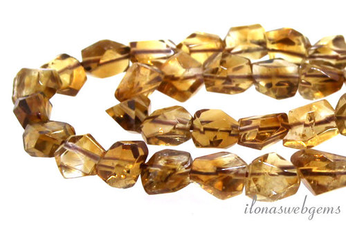 Citrine beads free shape around 8x5mm
