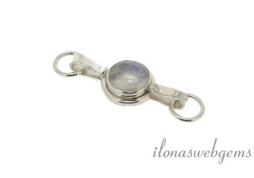 Sterling zilveren haakslotje met maansteen