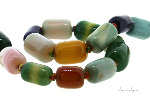 Fire Agate beads around 18x13mm
