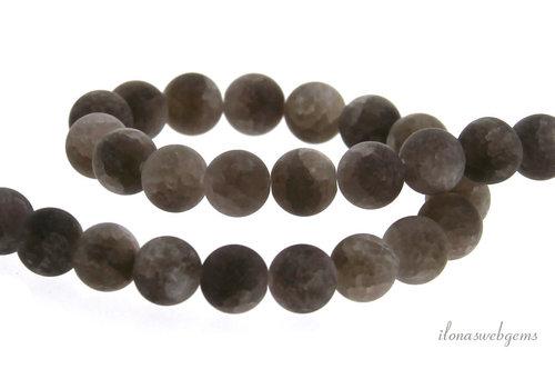 Smoky quartz crackle beads around 6mm
