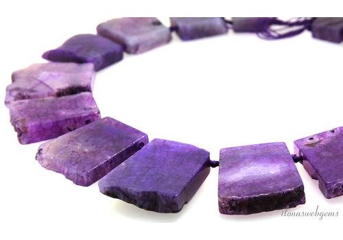 Feuerachat Perlen auf- und absteigend von ca. 30x25 bis 40x37mm