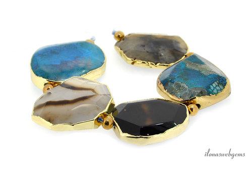 Agate beads around 40x38x12mm