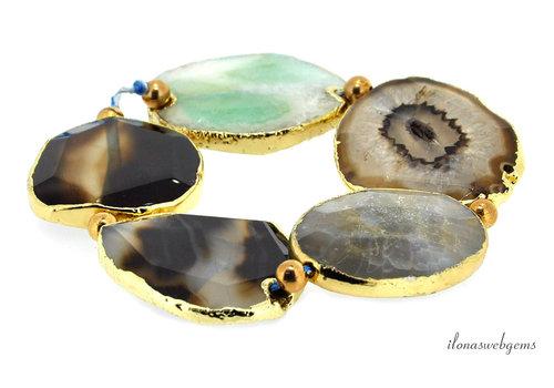 Agate beads around 42x32x8mm