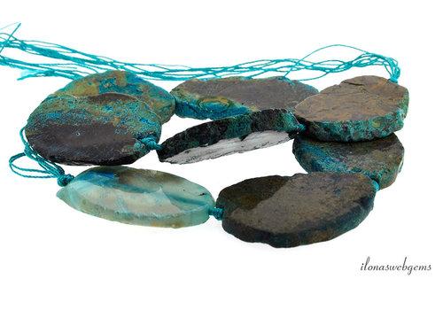 Agate beads around 48x46x7mm