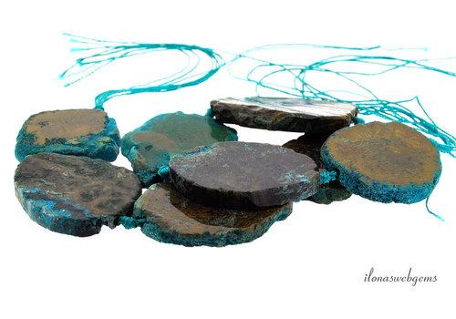 Agate beads around 48x43x6.5mm