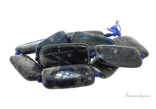 Agate beads around 40x20x8mm