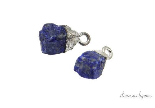 Minimalistisch sterling zilveren hangertje met Lapis Lazuli ca. 7-8