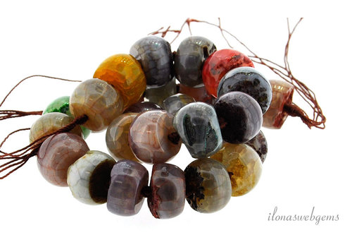 Fire Agate beads around 18x12mm
