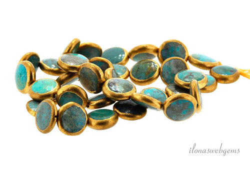 1x Arizona Turquoise bead coin around 11.5x4mm