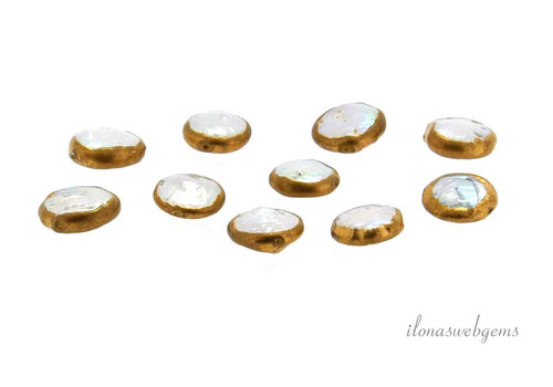 Coinpearl gold plated around 10x3.5mm
