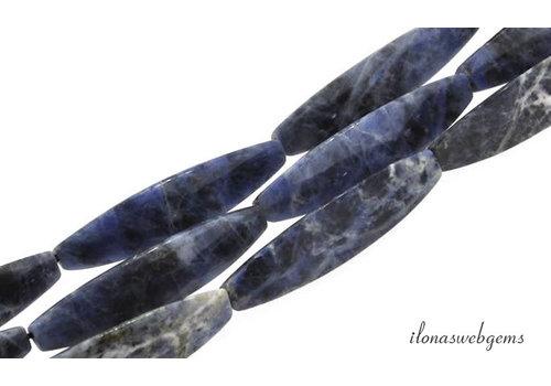 Sodalite beads ca.28x9mm