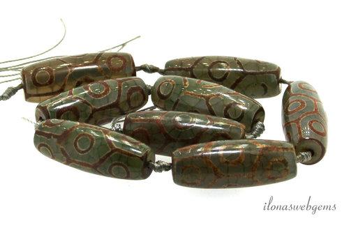 DZI Agate beads around 40x15mm