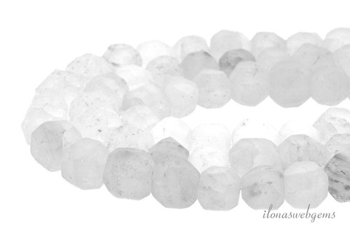 Bergkristal matte kralen ca. 13-15mm