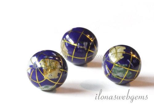 Lapis lazuli globe kraal ca. 10mm