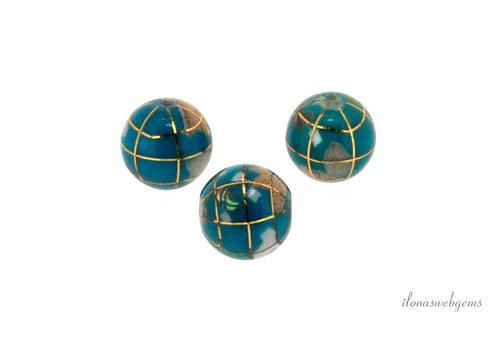 Turkoois globe kraal ca. 12mm