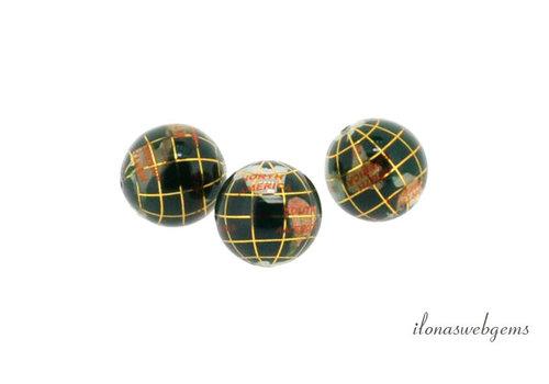 Malachiet globe kraal ca. 18mm