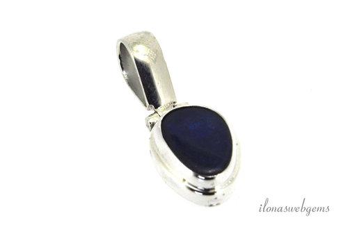 zilveren hanger blauwe opaal 3