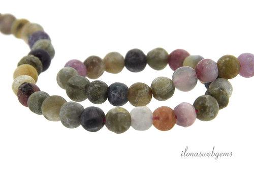 Matte toumaline beads around 5mm