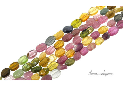 Tourmaline beads oval around 6x5mm