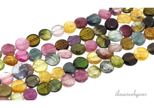Toermalijn mini coins ca. 6.5x2mm