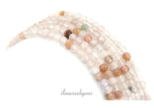 Fluorit Mini Perlen Facette um 3,3 mm