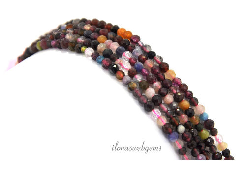 Mini faceted beads faceted round mix around 3mm