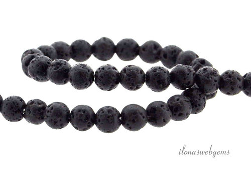 Lava stone beads around 4mm