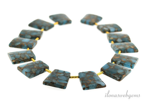 Choker blue sponge quartz beads ca29x25x5.5mm