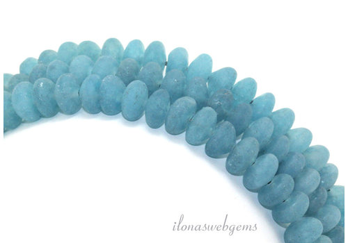 Blue sponge quartz beads mat around 8x5mm