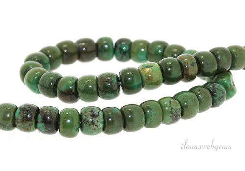 Turquoise beads rondelle around 8x6mm