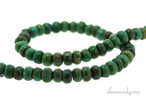 Turquoise beads rondelle around 6x4mm