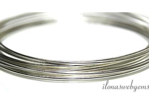 1 cm sterling zilver draad norm. 0,6mm half rond / 22GA