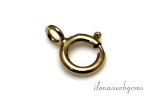 1 piece 14 carat gold spring ring, approx. 6 mm