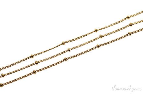 1cm 14k/20 Gold filled schakels / ketting