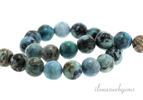 Tibetan Larimar beads around 12 mm