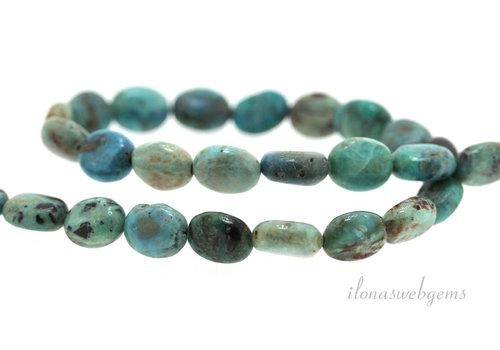 Tibetan Larimar beads oval ca10x8mm
