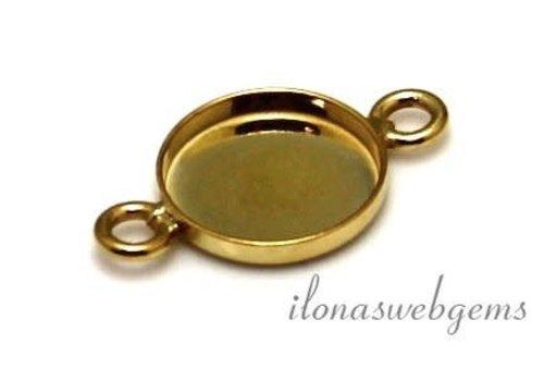 14 Karat Gelbgold Stecker 10mm