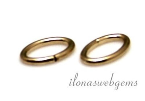 14k / 20 Gold filled open eye oval approx. 6x4x0.8mm