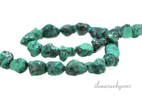 Turquoise beads around 9x8mm