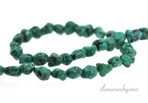 Turquoise beads around 7x6mm