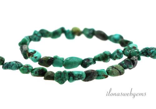 Turquoise beads around 5x4mm
