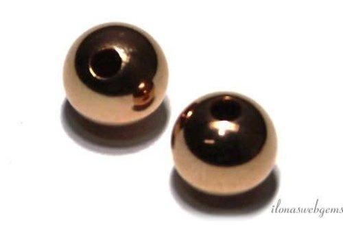 14k rose gold bead 4mm