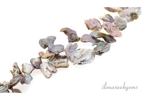 Keshi pearls around 25x15mm