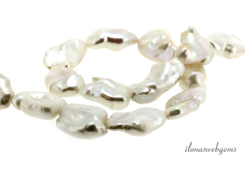 Baroque pearls around 19x13x6mm