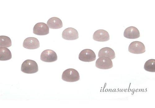 Rose quartz cabochon 4mm