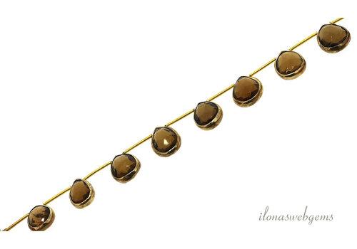 Vermeil pendants with beer quartz around 15x12x5mm