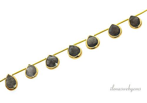 Vermeil pendants with Labradorite around 15x11x4mm